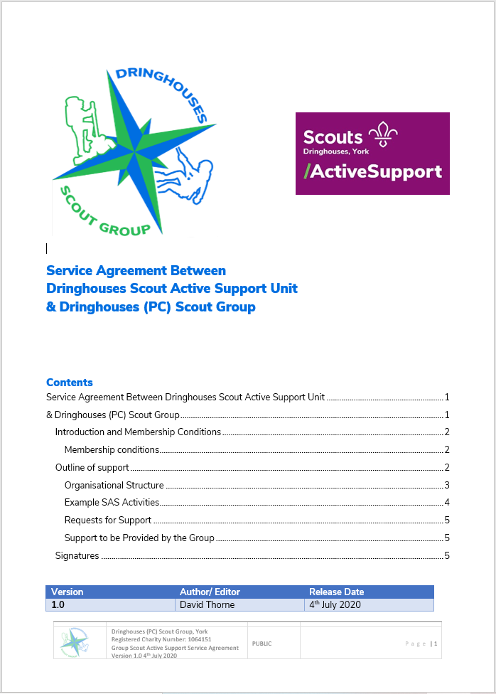 Active Support Service Agreement